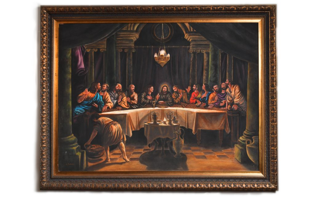 """<strong>Rubens Last Supper<br></strong>49"""" x 63""""<br>$8,000"""