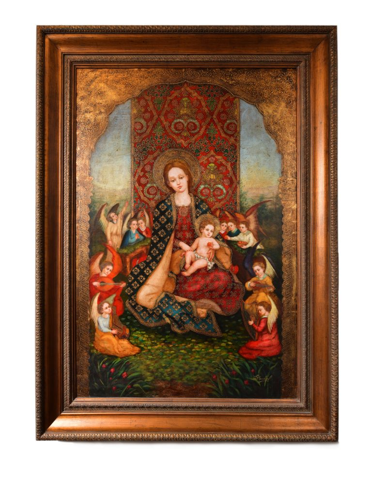 """<strong>Frolicking with the Angels</strong><br>72"""" x 53""""<br>$6,900"""